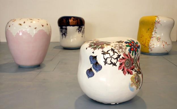בצלאל, עיצוב קרמי וזכוכית, נועה ראזר (1) (צילום: סשה פליט)