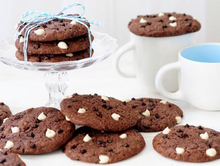 עוגיות שוקולד צ'יפס בשני צבעים (צילום: שרית נובק - מיס פטל, אוכל טוב)
