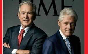 ביל קלינטון וג'ורג' בוש על שער מגזין טיים