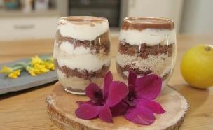 עוגת גבינה ושוקולד בשני צבעים (צילום: אפיק גבאי)