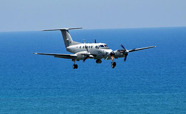 """מטוס סיור """"צופית"""" שהשתתף בתרגיל (צילום: חייל האוויר)"""