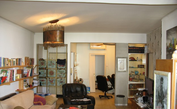 צח רונן, הדירה לפני (צילום: צילום ביתי)