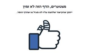 שגיאה , פיסבוק (צילום: חדשות 2)