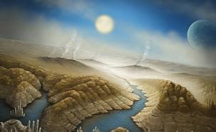 הדמיית פני השטח של הכוכב (צילום: SETI institute/Danielle Futselaar)
