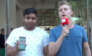 אנדרואיד על אייפון 6 (צילום: Dit is Normaal, YouTube)