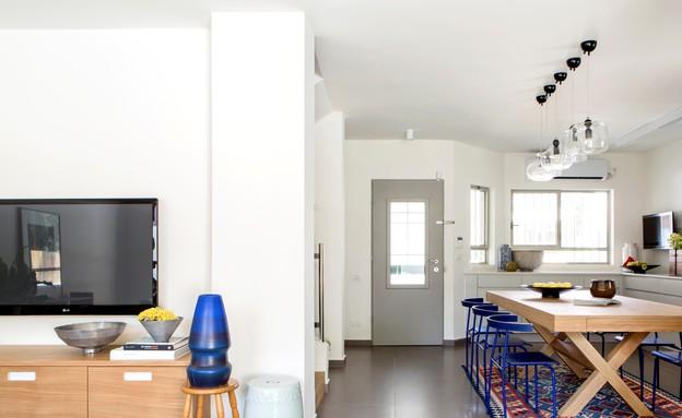 פינות אוכל 02, התאמת החומרים, הסגנון והצבעים (צילום: איתי בנית, תכנון ועיצוב-אביב חרמוני וענת סודרי)