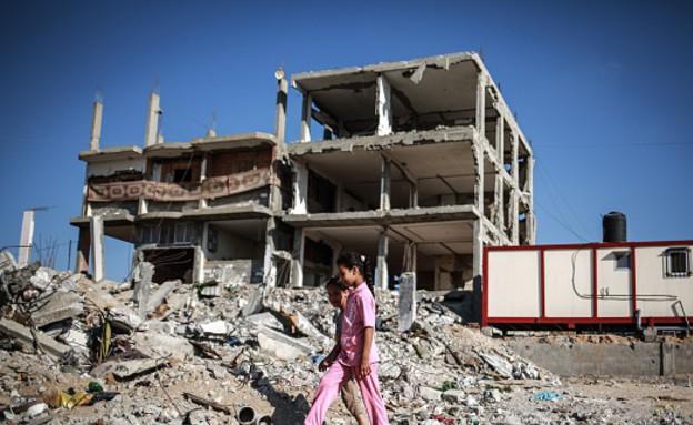 ההרס בעזה לאחר צוק איתן (צילום: Anadolu Agency, GettyImages IL)