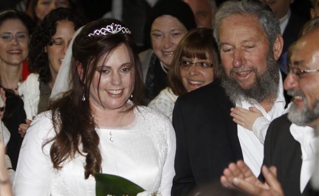 מרגלית הר שפי ביום חתונתה, 2010 (צילום: מרים אלסטר, פלאש 90)