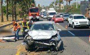 זירת התאונה, היום (צילום: חטיבת דובר המשטרה.)