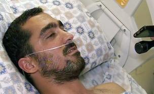 בן מויאל בבית החולים (צילום: חדשות 2)