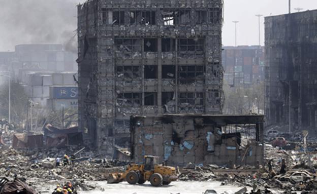 פיצוץ בסין (צילום: רויטרס)