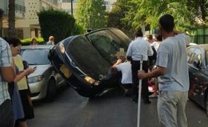 זזירת התאונה, היום (צילום: יניב שחם)