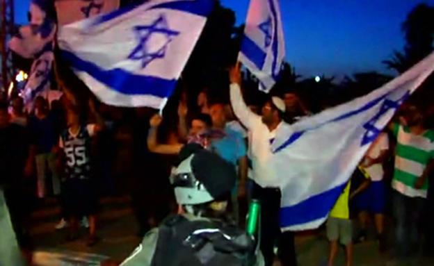 הפגנה מול בית חולים ברזילאי באשקלון (צילום: חדשות 2)