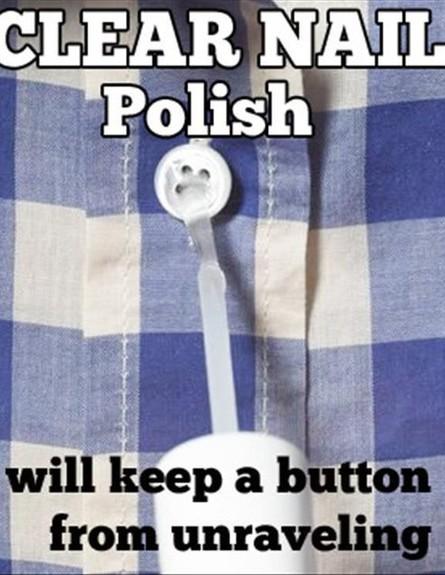 טריקים לבית, לק על הכפתור (צילום: מתוך imgur)