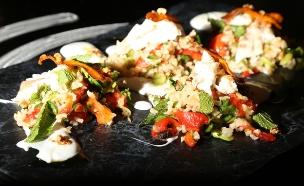 אורז מלא עם דג (צילום: דניאל בר און, מאסטר שף)