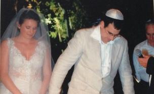 יואב וענת ביום חתונתם (צילום: תמר הפקות)