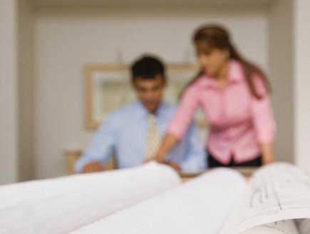 זוג בעבודה (צילום: Thinkstock)