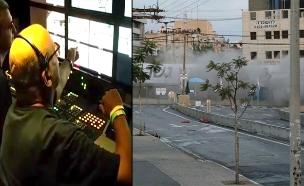 מאחורי הקלעים של פיצוץ הגשר (צילום: ישראל סן, חדשות 2)