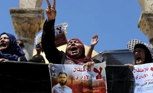 הפגנה בשטחים למען עלאן (צילום: רויטרס)