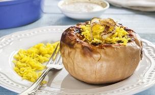 דלורית ממולאת אורז צהוב  (צילום: אסף אמברם, אוכל טוב)