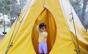 ילדים באוהל (צילום: לילי שרצקי אלמליח)
