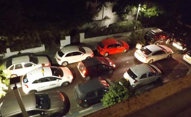 רחוב נחמני בתל אביב פקוק (צילום:  גל אוחובסקי)