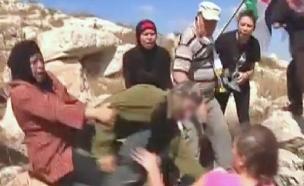 תיעוד האלימות בנבי סלאח (צילום: חדשות 2)