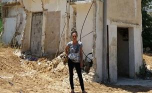 הרס מבנה סביב דירה (צילום: חדשות 2)