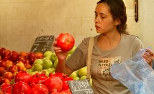 ראש השנה, קניות, שוק, תפוחים, רימונים (צילום: חדשות 2)