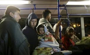 פליטים בהונגריה (צילום: חדשות 2)