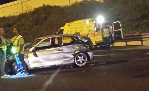 """הרוגה ושני פצועים בתאונת דרכים בראשל""""צ (צילום: דוברות מד""""א)"""