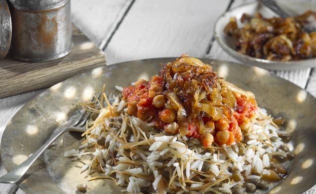 קושארי - תבשיל אורז מצרי (צילום: אנטולי מיכאלו, אוכל טוב)
