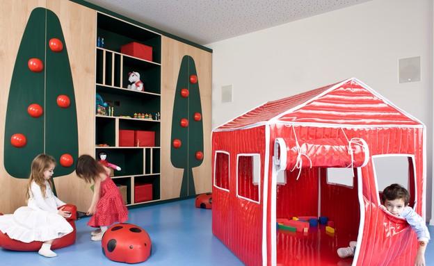 גני ילדים 12, שילוב אלמנטים מעולמות התוכן של הילדים (צילום: עמית גרון, תכנון-לב גרגיר אדריכלים, עיצוב פנים-שרית שני ח)