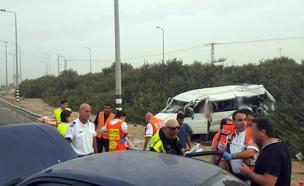 """זירת התאונה, היום (צילום: דוברות מד""""א)"""