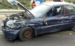 נסיבות התאונה נחקרות (צילום: דוברות אגף התנועה במשטרה)