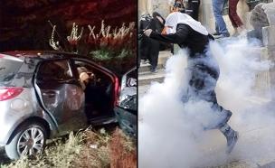 פיגוע ומהומות: חג אלים בי-ם (צילום: רויטרס, אריק אבולוף, כבאות ירושלים)