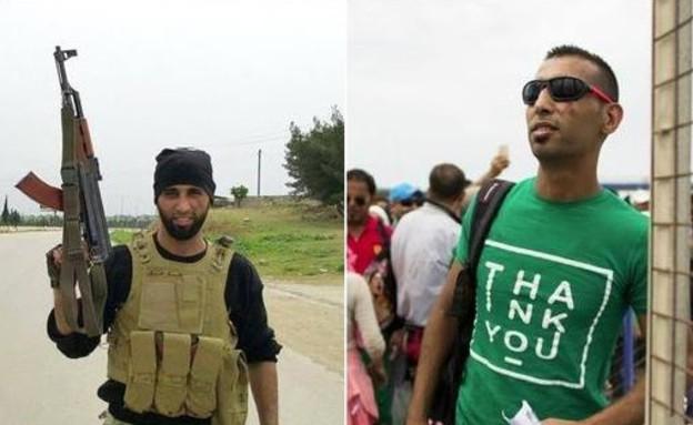 פליט סורי שנלחם נגד אסאד (צילום: twitter)