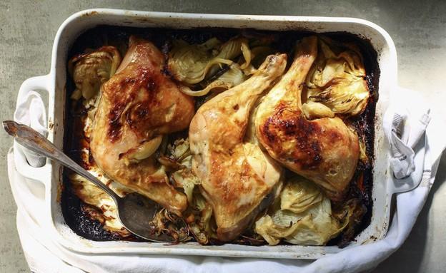 """""""פנשל הנשן"""" - צלי עוף בשומר מקורמל (צילום: דן פרץ, אוכל טוב)"""