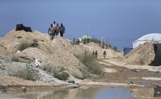 מנהרות חמאס בגבול מצרים מוצפות (צילום: רויטרס)