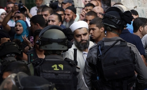 2,100 שוטרים ולוחמים בירושלים במהלך כיפו (צילום: FLASH 90)