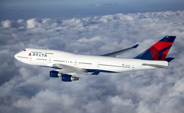 מטוס דלתא איירליינס בקו תל אביב ניו-יורק (יח``צ:  יחסי ציבור )
