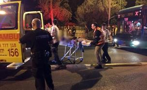 אדם נדקר למוות בירושלים (צילום: לירן תמרי)