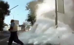 תיעוד: תאונה קטלנית של משאית קמח (צילום: יוטיוב)