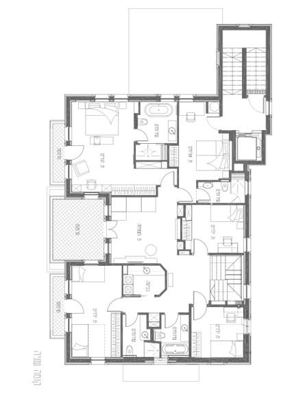 בית בבקעה תכניות קומה 2 (צילום: אילן נחום)