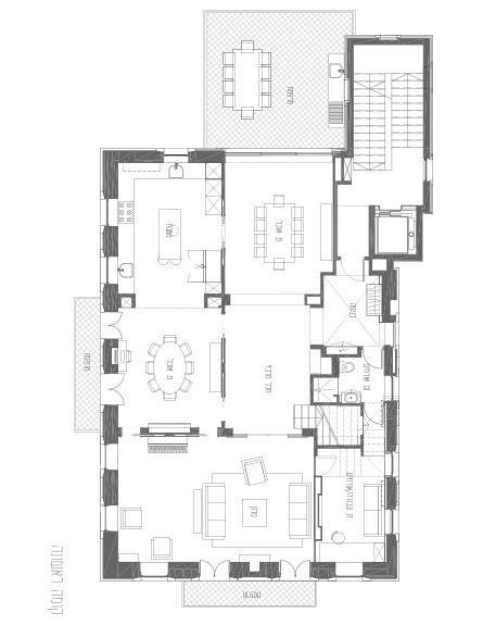 בית בבקעה תכנית קומה 1 (צילום: אילן נחום)