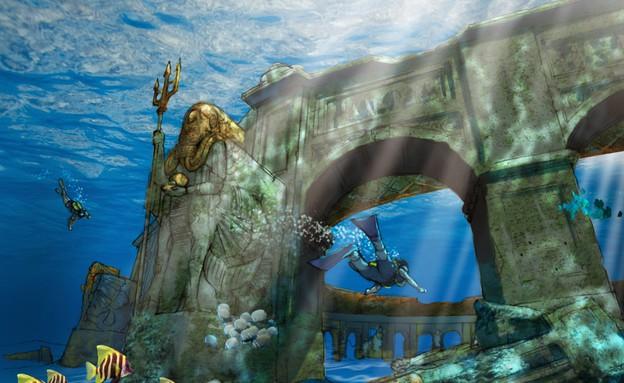 דובאי, הפארק התת ימי (צילום: reefworlds.com)