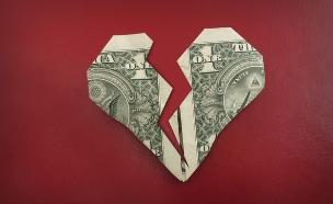 דולר קרוע בצורת לב (אילוסטרציה: thinkstock)