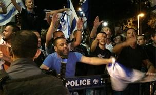 ההפגנה בחיפה, היום (צילום: חדשות 2)