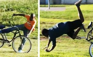 מתיחת גנבי אופניים (צילום: youtube)
