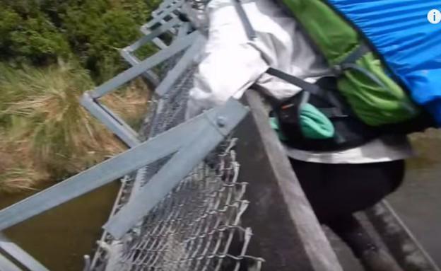 גשר נקרע (צילום: יוטיוב)